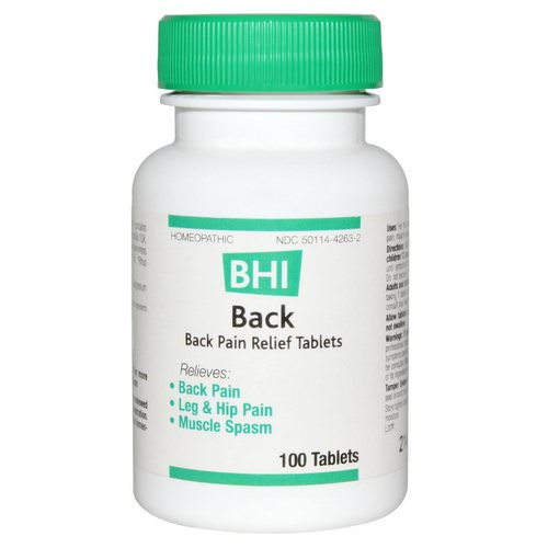 MediNatura, BHI, Back, Pain Relief, 100 Tablets Review