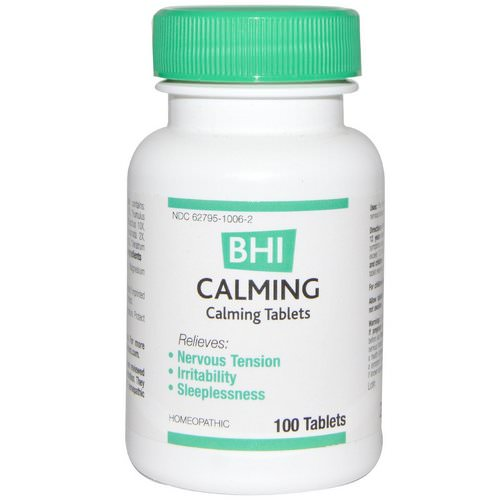 MediNatura, BHI, Calming, 100 Tablets Review