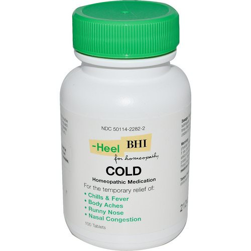 MediNatura, BHI, Cold, 100 Tablets Review
