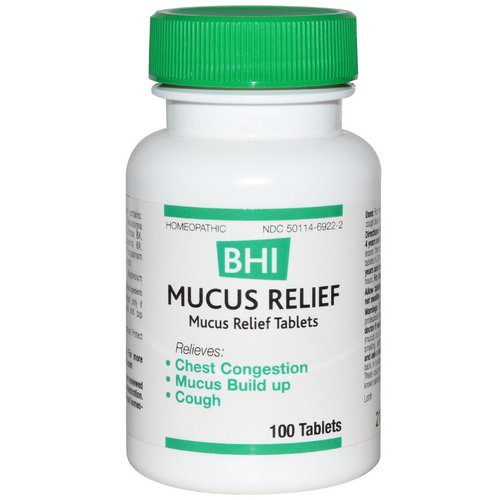 MediNatura, BHI, Mucus Relief, 100 Tablets Review