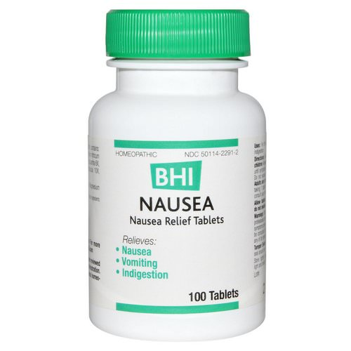 MediNatura, BHI, Nausea, 100 Tablets Review
