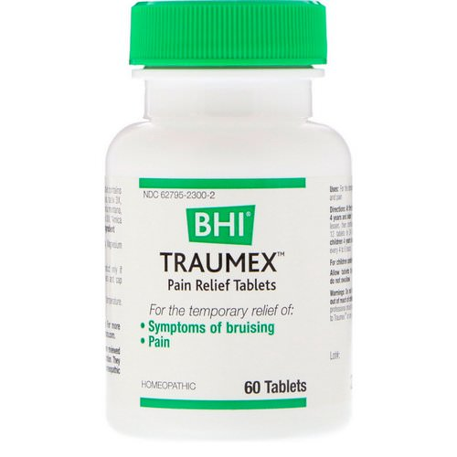MediNatura, BHI, Traumex, Pain Relief Tablets, 60 Tablets Review