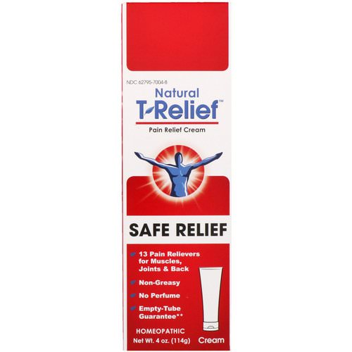 MediNatura, Natural T-Relief, Pain Relief Cream, Safe Relief, 4 oz (114 g) Review