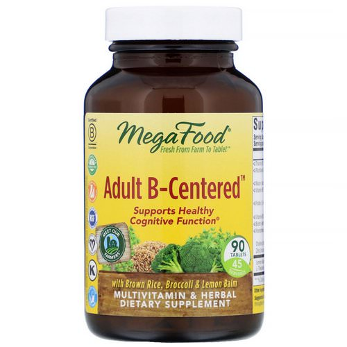 MegaFood, Adult B-Centered, 90 Tablets Review
