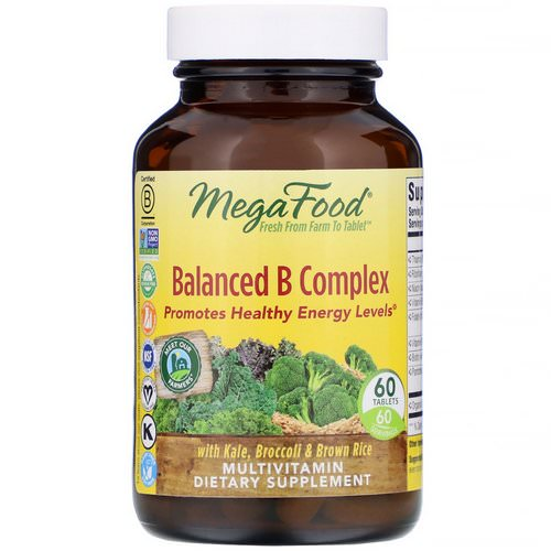 MegaFood, Balanced B Complex, 60 Tablets Review
