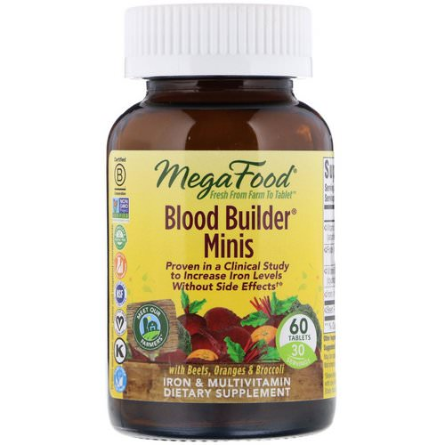 MegaFood, Blood Builder Minis, 60 Tablets Review