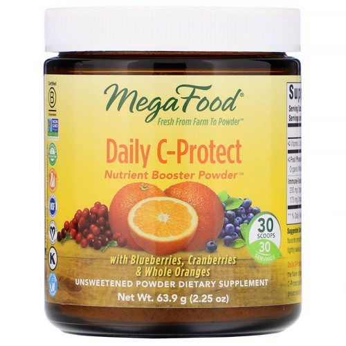 MegaFood, Daily C-Protect, Nutrient Booster Powder, Unsweetened, 2.25 oz (63.9 g) Review