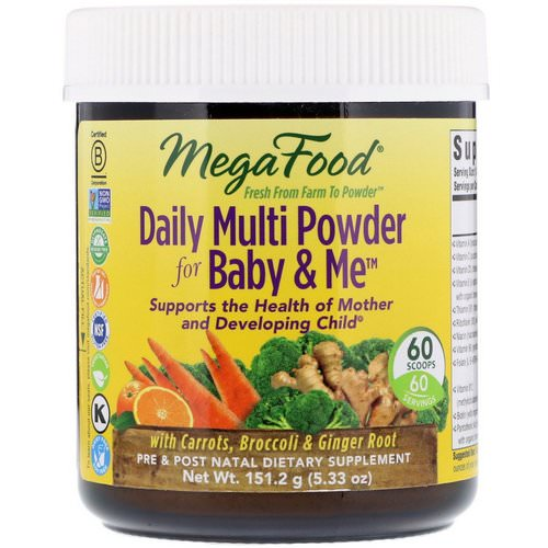 MegaFood, Daily Multi Powder for Baby & Me, 5.33 oz (151.2 g) Review