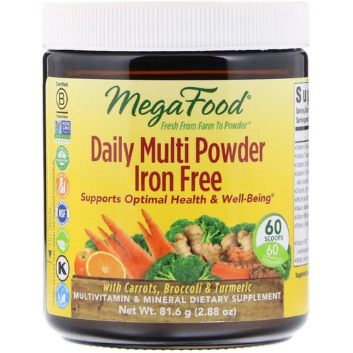 MegaFood, Daily Multi Powder, Iron Free, 2.88 oz (81.6 g) Review