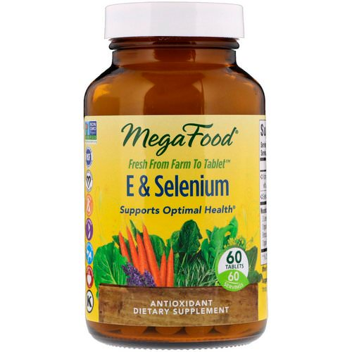 MegaFood, E & Selenium, 60 Tablets Review