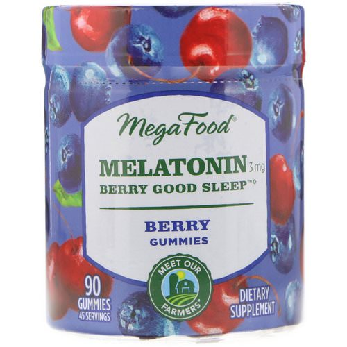 MegaFood, Melatonin, Berry Good Sleep, Berry, 3 mg, 90 Gummies Review