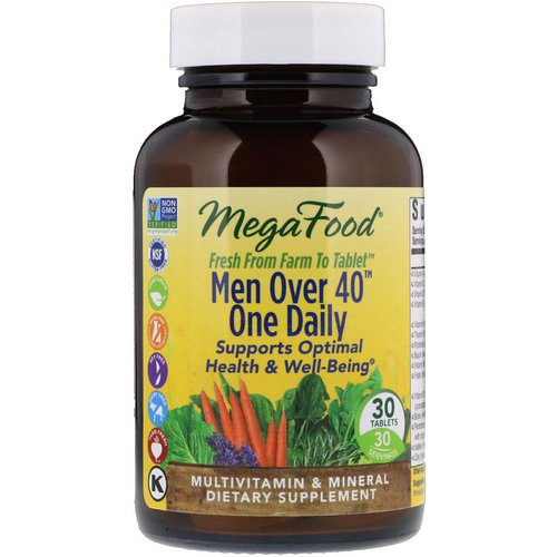MegaFood, Men Over 40 One Daily, Iron Free Formula, 30 Tablets Review