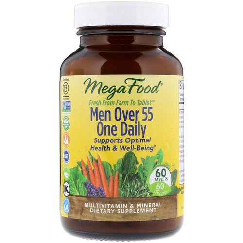 MegaFood, Men Over 55 One Daily, 60 Tablets Review