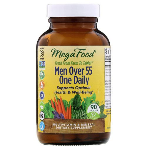 MegaFood, Men Over 55 One Daily, 90 Tablets Review
