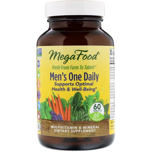 MegaFood, Men's One Daily, Iron Free, 60 Tablets Review