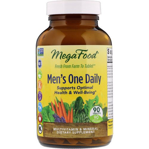 MegaFood, Men's One Daily, Iron Free, 90 Tablets Review