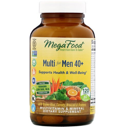MegaFood, Multi for Men 40 +, 120 Tablets Review