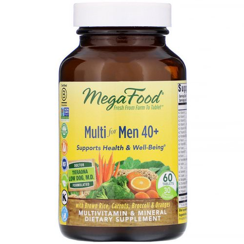 MegaFood, Multi for Men 40+, 60 Tablets Review