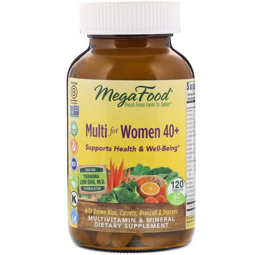 MegaFood, Multi for Women 40+, 120 Tablets Review