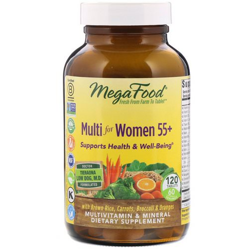 MegaFood, Multi for Women 55+, 120 Tablets Review