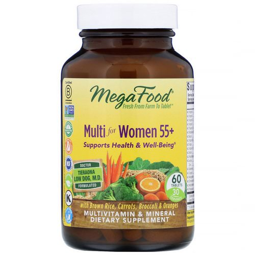 MegaFood, Multi for Women 55+, 60 Tablets Review