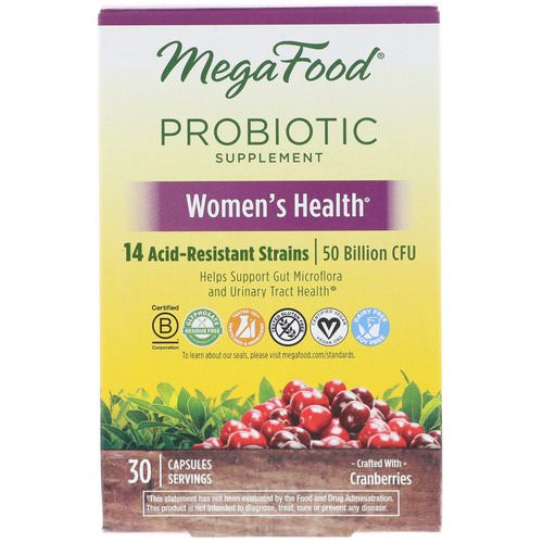 MegaFood, Probiotic Supplement, Women's Health, 30 Capsules Review