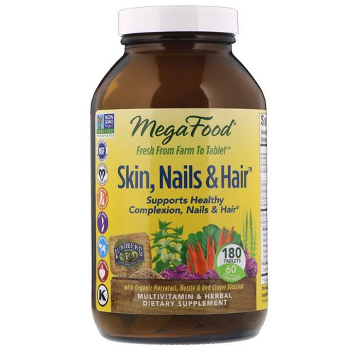 MegaFood, Skin, Nails & Hair, 180 Tablets Review
