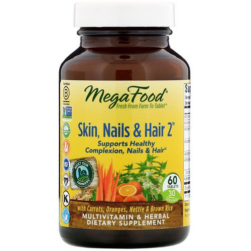 MegaFood, Skin, Nails & Hair 2, 60 Tablets Review
