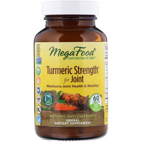 MegaFood, Turmeric Strength For Joint, 60 Tablets Review