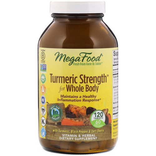 MegaFood, Turmeric Strength for Whole Body, 120 Tablets Review