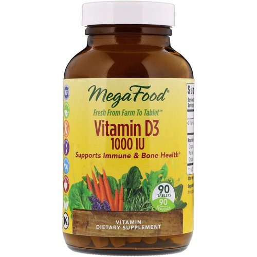 MegaFood, Vitamin D3, 1,000 IU, 90 Tablets Review