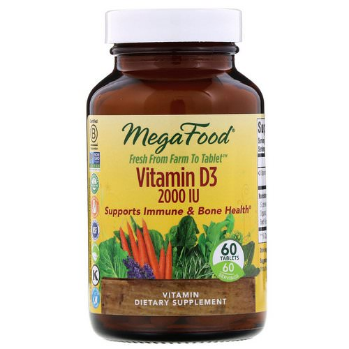 MegaFood, Vitamin D3, 2000 IU, 60 Tablets Review