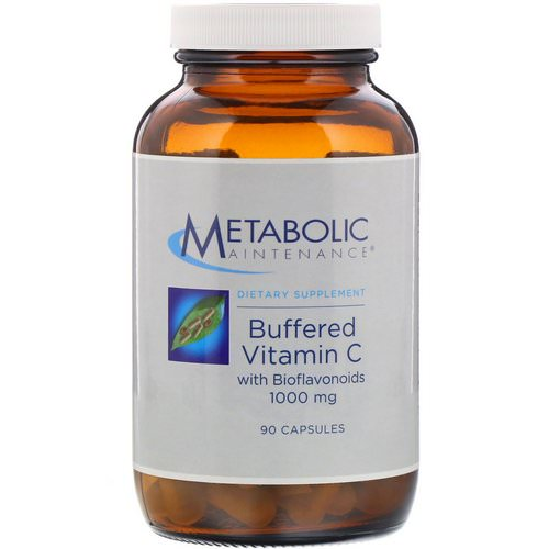 Metabolic Maintenance, Buffered Vitamin C with Bioflavonoids, 1,000 mg, 90 Capsules Review