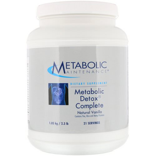 Metabolic Maintenance, Metabolic Detox Complete, Natural Vanilla, 2.3 lb (1.05 kg) Review