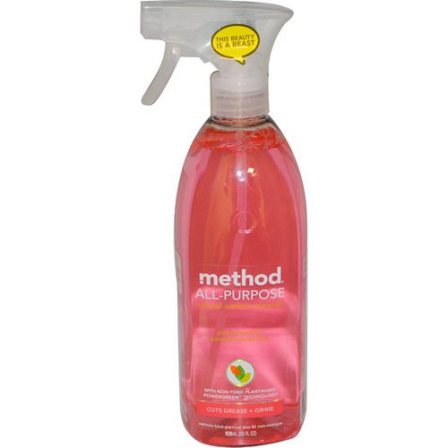 Method, All Purpose Natural Derived Surface Cleaner, Pink Grapefruit, 28 fl oz (828 ml) Review