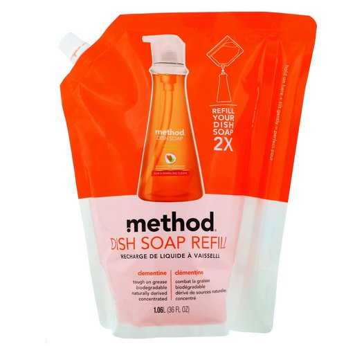 Method, Dish Soap Refill, Clementine, 36 fl oz (1.06 l) Review