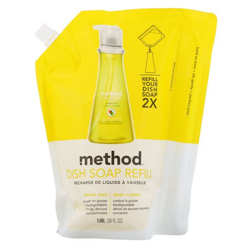 Method, Dish Soap Refill, Lemon Mint, 36 fl oz (1.06 l) Review