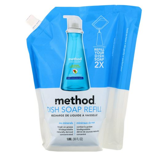 Method, Dish Soap Refill, Sea Minerals, 36 fl oz (1.06 l) Review