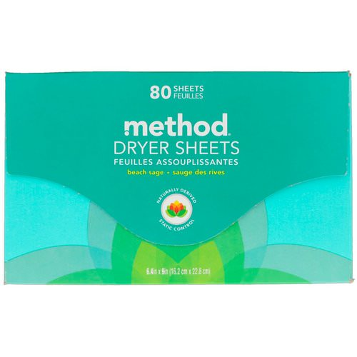 Method, Dryer Sheets, Beach Sage, 80 Sheets Review