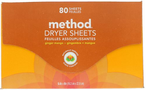 Method, Dryer Sheets, Ginger Mango, 80 Sheets Review