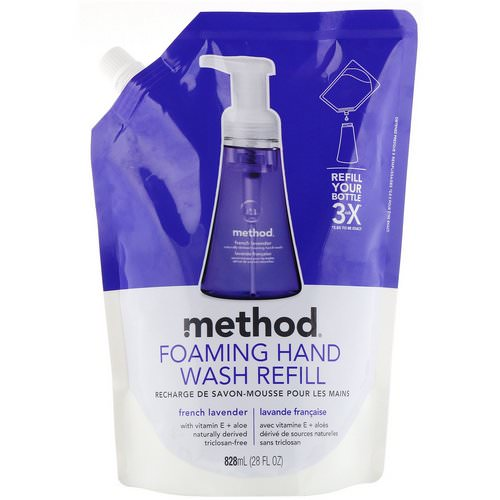 Method, Foaming Hand Wash Refill, French Lavender, 28 fl oz (828 ml) Review