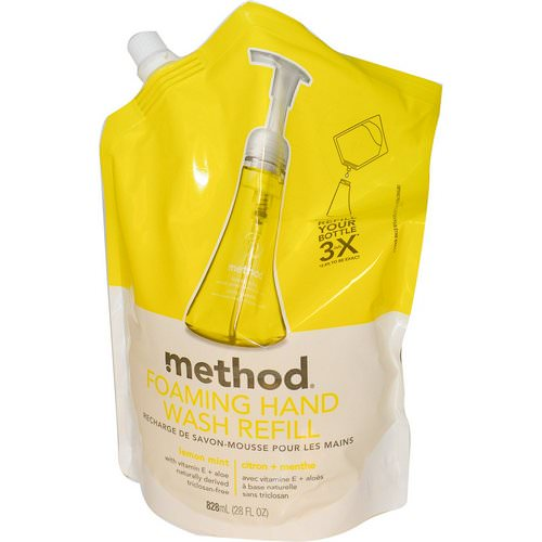 Method, Foaming Hand Wash Refill, Lemon Mint, 28 fl oz (828 ml) Review