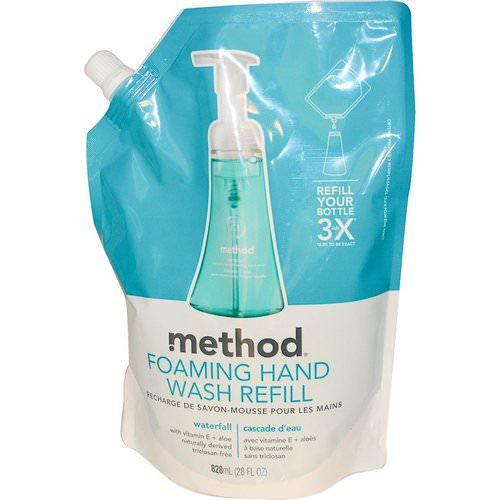 Method, Foaming Hand Wash Refill, Waterfall, 28 fl oz (828 ml) Review