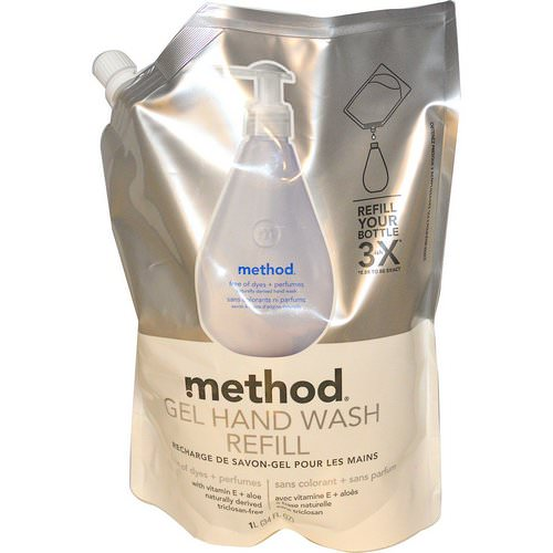 Method, Gel Hand Wash Refill, Free of Dyes + Perfumes, 34 fl oz (1 l) Review