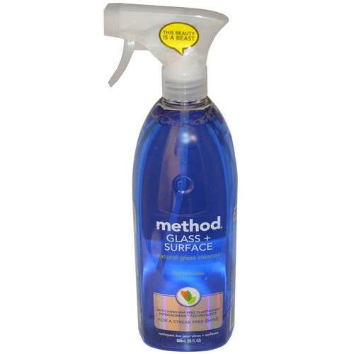 Method, Glass + Surface, Natural Glass Cleaner, Mint, 28 fl oz (828 ml) Review