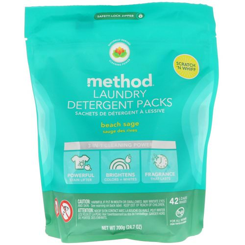 Method, Laundry Detergent Packs, Beach Sage, 42 Loads, 24.7 oz (700 g) Review