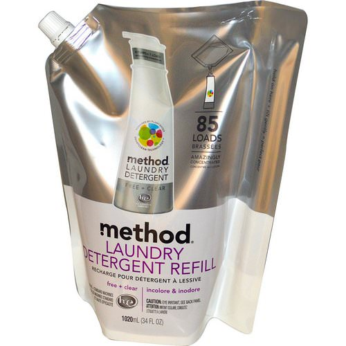 Method, Laundry Detergent Refill, 85 Loads, Free + Clear, 34 fl oz (1020 ml) Review