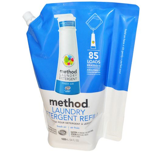 Method, Laundry Detergent Refill, 85 Loads, Fresh Air, 34 fl oz (1020 ml) Review