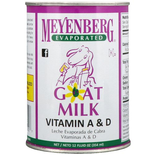 Meyenberg Goat Milk, Evaporated Goat Milk, Vitamin A & D, 12 fl oz (354 ml) Review