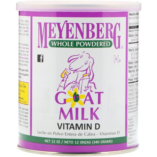 Meyenberg Goat Milk, Whole Powdered Goat Milk, Vitamin D, 12 oz (340 g) Review